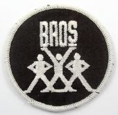 Bros - 'Logo Black' Embroidered Patch